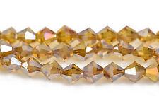 8mm Lt Topaz AB Bicone crystal beads Transparent fct beads ~35 beads bgl1459