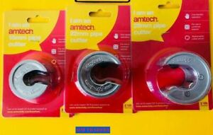 Amtech Rotary 15mm, 22mm,28mm Copper Pipe Tube Cutter Self-Locking Slicer Wheels