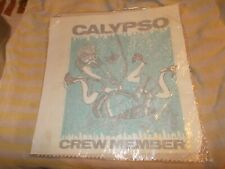 Vintage- Calypso Crew Member Iron On- 1970'S Sealed Deep Sea Diver
