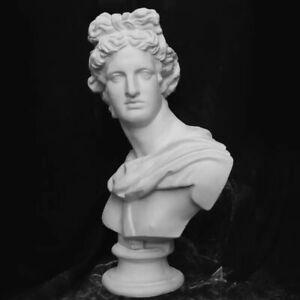 31CM Apollo Bust Statue Adelos Greek Mythology Resin Figurine Decoration Home