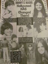 Donny and Marie Osmond, Full Page Vintage Clipping, Osmonds Brothers