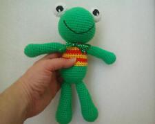 Crochet frog toy, handmade toy frog