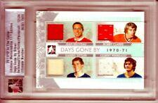 2011-12 ITG Ultimate Memorabilia Days Gone By Beliveau/Clarke/Sittler/Perreault