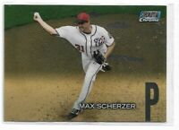 2018 Topps stadium club chrome parallel Max Scherzer SCC-69 Washington Nationals