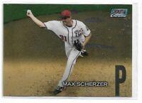2018 Topps stadium club chrome parallel Max Scherzer SCC-69 Washington Nationals