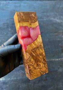 Stabilised Brown Mallee Burl Hybrid Block Epoxy Resin Casting Art DIY Material