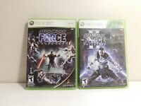 Star Wars: The Force Unleashed I and II Bundle Xbox 360 Clean and Tested!