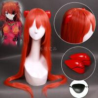 Neon Genesis Evangelion Asuka Langley Soryu Cosplay Wig Hair EVA Orange Long Wig