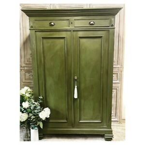 Vintage French Painted  Maiden Cupboard Larder Linen Pantry Hall Cloakroom