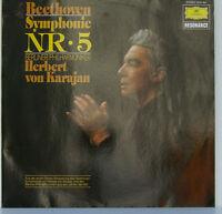 """BEETHOVEN SYMPHONIE NR. 5 BERLINER PHILHARMONIKER HERBERT VON KARAJAN 12"""" LP d18"""