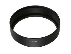 82mm Black Metal 20mm Long Screw in Hood For Normal Lenses 82mm Thread UK SELLER
