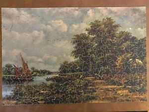"""Vintage Big 10 Perfect Picture Puzzle, """"Upper Thames Country"""" 100% Complete"""