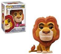 Mufasa Flocked Lion King Target Funko Pop Vinyl New in Mint Box + Protector