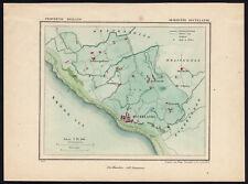 ANTIQUE MAP-NETHERLANDS-TOWN PLAN-ZOUTELANDE-ZEELAND-Kuyper-Kuijper-1865