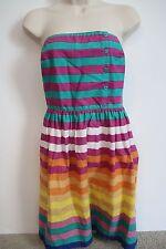 O'NEILL Womens Juniors Colorful Striped Strapless Dress ONEILL Size 5