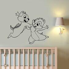 Chip and Dale Wall Decal Walt Disney Cartoon Vinyl Sticker Art Nursery Decor cp1