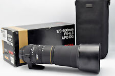 Sigma 170-500 mm F/5-6.3 EX DG APO Zoom Lens Nikon Mount
