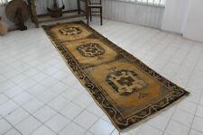 "Vintage Handmade Turkish Oushak Kitchen Runner Rug Carpet 141""x41"""