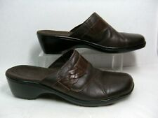 Clarks Bendables Womens Mules / Shoes Size 9 M Brown leather 65857 #Y
