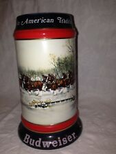 """1990 Budweiser Collector's Series """"An American Tradition"""" Beer Stein/Mug"""