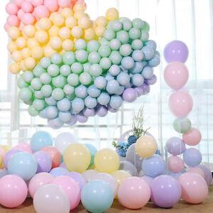 100Pcs Ballon géant en latex Anniversaire Mariage Fête enfant Macaron Décor