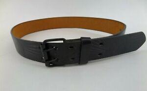 Women Ladies New Black Skull Printed Wide Buckle Belt  S-XL 005