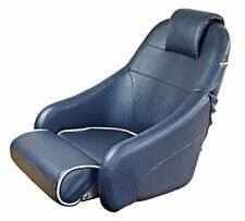 Flip-up Boat Helm Seat Blue with White Piping