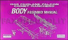 1968 Mercury Body Assembly Manual Comet Cyclone Montego MX Windows Locks Chrome