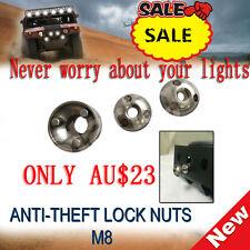 1 SET OF M8 Anti Theft Security Lock Nut screw  For Led Light Bar IPFSpot/flood