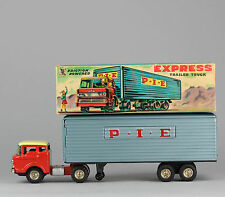 #Antique Tin Toy# Japanese 1950's TIN TOY FRICTION PIE TRUCK SSS JAPAN