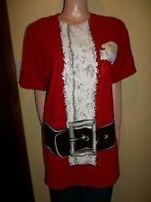MENS UGLY CHRISTMAS SANTA T SHIRT LARGE NWT