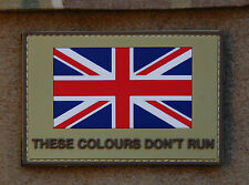 UK These Colours Don't Run PVC Union Flag HM Armed Forces British Army UKSF