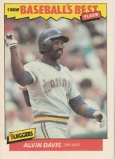 FREE SHIPPING-MINT-1986 Fleer Baseball's Best Alvin Davis Seattle Mariners #8