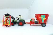 Bruder Fendt 209 S Tractor Stratmann Siloschneider + Verti Mix 1050 Colgante