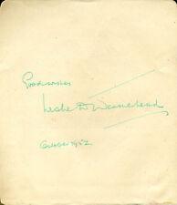 LESLIE D. WEATHERHEAD - AUTOGRAPH SENTIMENT SIGNED 10/1952
