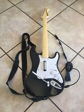 Xbox 360 Harmonix Fender Stratocaster Wired Rock Band Guitar With Dongle Tested