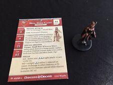 Dungeons & Dragons Miniatures Mina,  Dark Cleric Anglefire 45/60  W/card -D&D