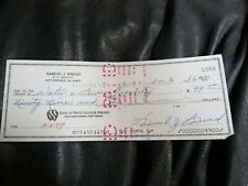 Golfer Sam Samuel Snead Autographed Hand Signed Cancelled Check 16b