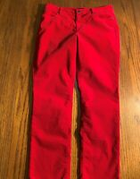 Womens Size 10 Talbot Red Velour Pants 5 Pocket Flawless