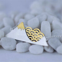 Exquisite18K Gold Cloud Solid 925 Sterling Silver Mountain Necklace for Women