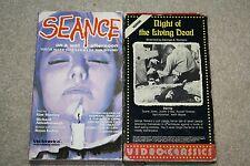 Cult Horror Movie VHS 2-Pack Night of the Living Dead / Seance Film Terror