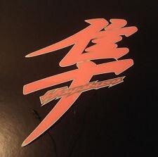 Hayabusa sticker/decal Lighted/Illuminated Kanji / Pair PINK