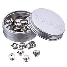 eBoot 50 Pieces Pins Keepers Backs Locks Pin Backs Locking Clasp Replacement,...