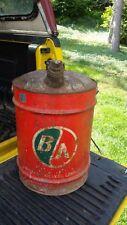 Original Good Condition British American Oil Company Large Oil Can