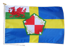 More details for pembrokeshire ensign flag with rope and toggle - various sizes - exclusive