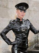 Lackjacke Lack Jacke Uniform Schwarz Glänzend Vinyl Maßanfertigung