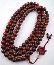 18mm Huge Tibet Buddhism 108 red sandalwood Prayer Bead Mala Necklace