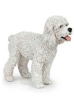Papo 54016 White Poodle Dog Toy Canine Animal Replica Figurine - NIP