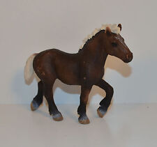 "4"" Brown Horse Stallion Mare White Mane & Tail PVC Figure Schleich D-73527"