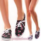 Scarpe donna sneakers ginnastica tessuto tela fantasia fiori estive 128-2Q